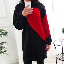 Buy 2017 Autumn Hoodies Dress Love Pattern Sweatshirt Tunic Lady Fashion Warm Dresses Casual Pull Long Sleeves Clothing WS4289Y for $13.49 in AliExpress store