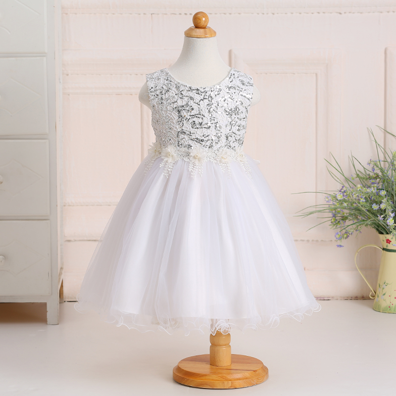 2017 New kid girl sequined dress kid girl party dress  withe kid princess dress   LYD005<br><br>Aliexpress