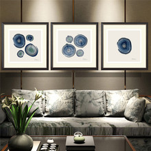 YongHe Home Decorative Canvas Printings Abstract three-picture Combination Oil Paintings Art Works For Decorate Living Room(China)
