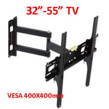 400X400 full motion 45kg 40inch 42inch 46inch 55inch retractable swivel LCD PLASMA tv bracket lcd wall mount led stand holder