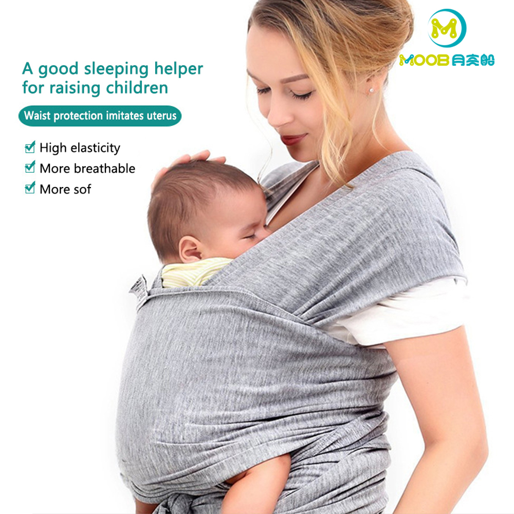 Comfort Fit Ring Sling /& Breathable Soft Cotton Baby Sling Carrier Green stripe Baby Wrap