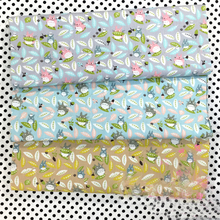 Neighbor Totoro Leaves Printed Twill Cotton Fabric Diy Neddlework Sewing Patchwork Home Textile Tissue For Toy The Clothes Bags