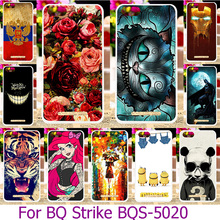 Soft TPU Painted Phone Case For BQ Strike BQS-5020 BQS 5020 BQS5020 5.0 INCH Smartphone Shell Hard Back Cover Skin Housing Hood