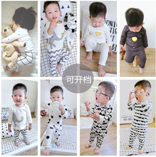 2 Pcs / Set Baby Clothing For Children Sets for 4-24 M Brand Children's Clothing 100% Cotton Long-Sleeved Shirt + Pants Pajamas