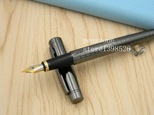 new GUN Grey Lacquered Twist Medium Medium Nib Fountain Pen(China)