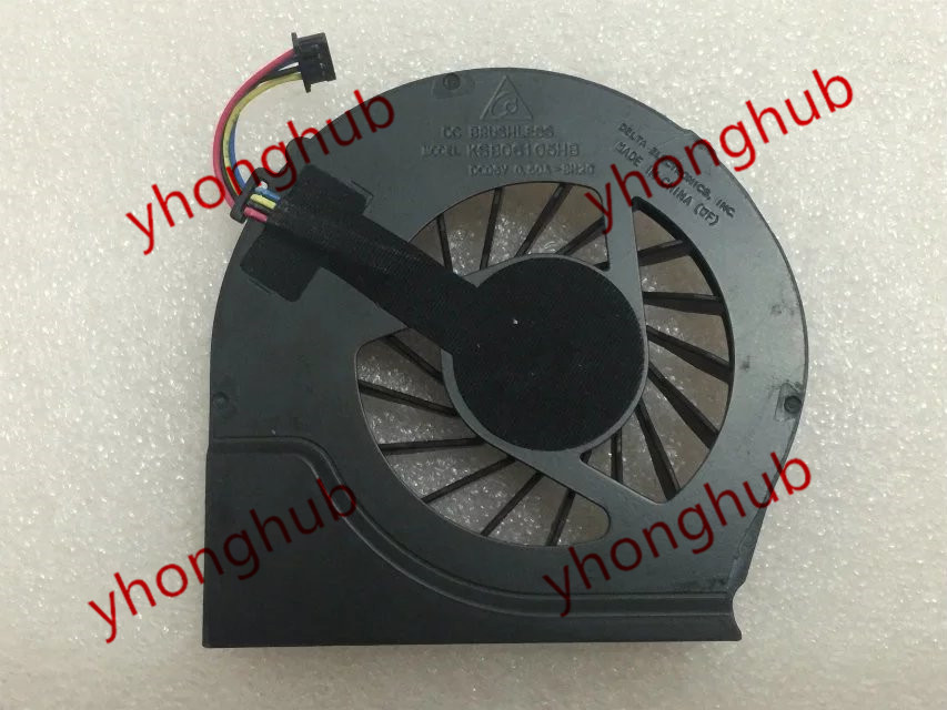 Free Shipping For Delta KSB06105HB -BH2G DC 5V 0.50A 4-wire 4-pin connector 40mm Server Laptop Cooling fan<br>