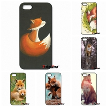 For Samsung Galaxy Note 2 3 4 5 S2 S3 S4 S5 MINI S6 S7 edge Active S8 Plus Cute Watercolor Fox Animal Poster Hard phone Case(China)