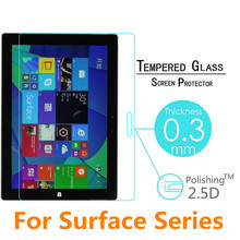 Tempered Glass Screen Protector For Microsoft Surface Pro 4 3 2 / Pro4 Pro3 Pro2 RT RT2 RT3 Surface3 TAB Tablet Protective Film