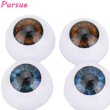 Pursue 5 Color 3 Pairs Doll Eyeballs 20mm/22mm Half Round Acrylic Reborn Bebe Doll Eyes for 18-22inch Doll Wholesale Brown/Blue