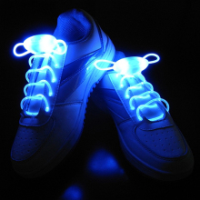Creative Light Up LED Shoelaces Flash Party Disco Shoe Laces Strings Decor 1 Pair