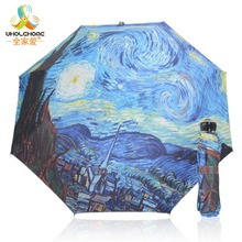 New Novelty Items Oil Painting Arts Umbrella Rain women Creative Famous Brand Mujer Paraguas Anti-UV Fashion Parasol Kids