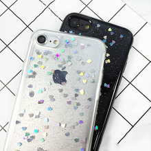 Buy iPhone 7 6 6s Plus Case Luxury Glitter Bling Love Heart Phone Cases Flash Powder Soft TPU GEL Back Cover Coque Fundas Shell for $1.44 in AliExpress store