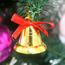 18 pcs/lot Golden bell Christmas decorations products Holiday party Christmas tree hang New Year gifts toys Free shipping(China)