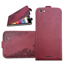 Brand Flip Case For Highscreen Power Rage Evo 3D Embossing PU Leather Protective Bags Cover With Card Pocket
