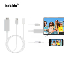 kebidu Original For HDTV TV Adapter USB Cable For Iphone 6 7 8 1080P Full HD HDMI Cable For IOS 8.0 or higher(China)