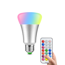 RGB Colour Changing E27 10W LED lamp Spot Bulb 110V 220V RGBW RGBWW Decoration Fairy Night light With Timer Remoter Controller
