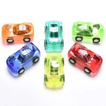 1Pc Great Pull Back Car Plastic Cute Toy Cars For Child Wheels Mini Car Model Kids Toys For Boys Candy Color New Arrival(China)
