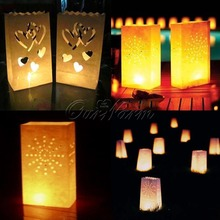 50Pcs light Holder Luminaria Paper Lantern Candle Bag for New Year Christmas Decorations Event  Party Supplies Wholesale