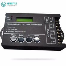 RGB LED Controller Time programable TC420 DC12V/24V 5Channel Total Output 20A Common Anode Programmable Free Shipping
