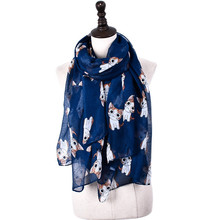 Fashion Women Cartoon Cat Prints Loop Shawl Women Spring Warm Ring Scarves Female Autumn Animal Infinity Scarf Bellyhood(China)