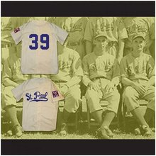 Custom XS-6XL St. Paul Saints 1939 Home Beige Baseball Jersey Replica Stitch Sewn Any Name Or Name Free Shippig(China)