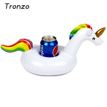 Tronzo 5Pcs 33*18cm Unicorn Inflatable Cup Holder For Christmas Wedding Decorations Floating Party Supplies Phone Strand Holder(China)