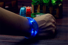 LED Bracelet With Flavour Flashing Bracelet Light Up Bracelet For Christmas Night Club Activity Party Bar Music Concert Cheer A2