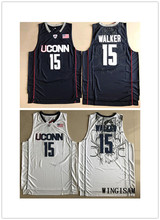 WINGISAM Kemba Walker #15 Uconn Huskies University College Basketball Jersey All Stitched Embroidery Logos For Free Shipping