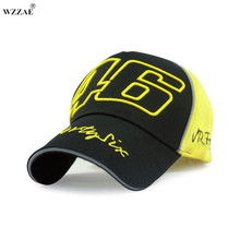 WZZAE 2017 New Snapback Caps Wholesale Rossi 46 Embroidery Baseball Cap Hat Motorcycle Racing Cap VR46 Brand Baseball Cap Men