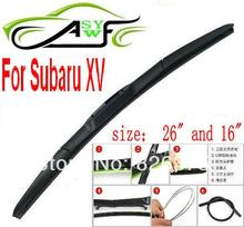 "Free shipping car wiper blade For Subaru XV Size 16"" 26"" Soft Rubber WindShield Wiper Blade 2pcs/PAIR deflector window"