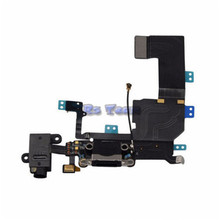 Hot Sale 100% Original Charger Dock USB Charging Port Plug Flex Cable For Iphone 5C With Headphone Jack Version