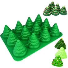 3D ChristmasTree Silicone Mold Cake Mould Xmas Cookie Chocolate Baking Mold Bread Decorating Sugarcraft Silicone Soap Mold Tools