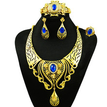 gold filled jewelry sets african jewelry sets african women necklace costume jewelry stone necklace wedding sets(China)