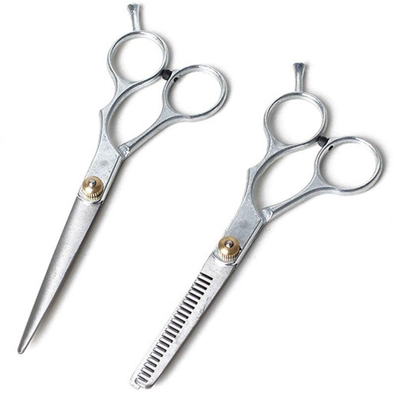 2pcs Barber Hair Cutting Thinning Scissors Shears Hair Cutting Thinning Shears Stainless steel Scissors Set Salon Professional 17