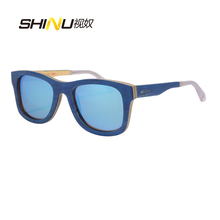 Wholesale Wood Sunglasses Women Me Fashion Polarized Driving Eyeglasses All Kinds of Wooden Types Glasses in 24 colors 6016(China)