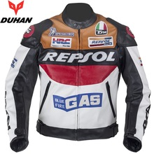 HOT SALE DUHAN motorcycle clothing moto racing suits REPSOL PU leather men motorbike Jacket clothes Spring coat(China)