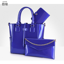 XIYUAN BRAND 2017 Women Composite hand Bag Handbag Leather Messenger cross body shoulder Bags Female Versatile handbags blue red(China)