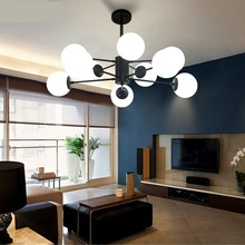 American style Glass ball Pendant Lights modern creative restaurant living room bar decorations Lights pendant lamps ZA