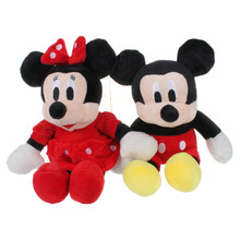 30CM Minnie Mouse Toys Red Minnie Plush Pendant Stuffed Animals 27CM Micke Mouse Girl Friend Minnie Pelucia Kids Toys for Girls