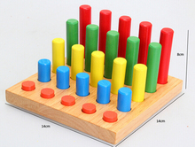 Cylindrical Wooden Block Blocks for Montessori early learning educational kids Toy