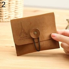 Fashion Vintage Purse Clutch Women Men Wallets Short Small Bag Card Hold Kid Gift Change Pouch Key Holder Pocket Wallet #