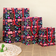 British Style Paper Gift Bag Creative Art Color Christmas Gift Hand Bag Bithday Party Decoration Gift Wrap SD792