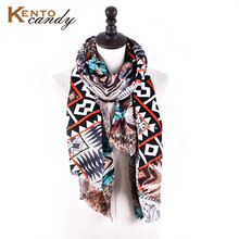 [KentoCandy] 2016 zigzag print cashmere band winter scarf women luxury Super soft warm ponchos and capes silk scarves and stoles(China)