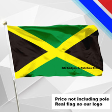 Jamaica Flag Flying Flag #4 144x96(3x5FT) #1 288x192 #2 240x160 #3 192x128 #5 96x64 #6 60x40 #7 30x20(China)