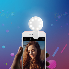 LED Flash Fill Light For iPhone IOS Android Rechargeable Mini Smartphone Cell Phone Camera Fill Light Portable 9 Leds