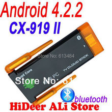Quad core Rk3188 CX-919II CX 919 II mini pc Dual wifi antenna android 4.2.2 bluetooth built in google android tv stick CX-919 II