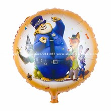 50pcs/lot 45*45cm The new balloon animal crazy city Foil balloons wholesale(China)