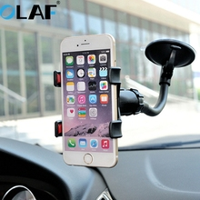 Olaf Universal Car Phone Holder Window Windshield Mount Car Holder 360 Adjustable Mobile Phone Holder For iPhone Samsung HTC LG(China)