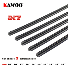 "KAWOO Car Vehicle Insert Rubber strip Wiper Blade (Refill) 8mm Soft 14"" 16"" 17"" 18"" 19"" 20"" 21"" 22"" 24"" 26"" 2pcs Accessories(China)"