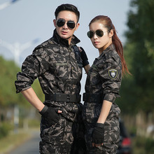 Military Uniform Combat Black Hawk Camouflage Army Jacket+Cargo Pans Men Tactical CS Uniforme Militar Working Clothes Female(China)